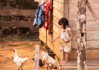 Orang Ashli girl, Village Borneo