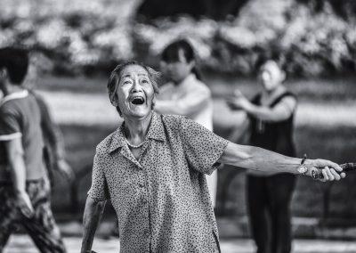 Badminton grandmom, China